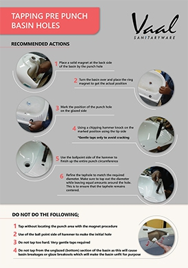 Basin Infographic - Tapping Pre Punch Basin Holes