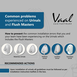 Vaal Urinals Installation Infographic