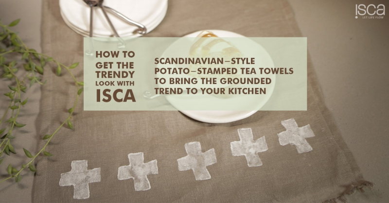 DIY with Kari: Scandinavian-style potato-stamped tea towels and upcycled wooden clothes-peg pot stands