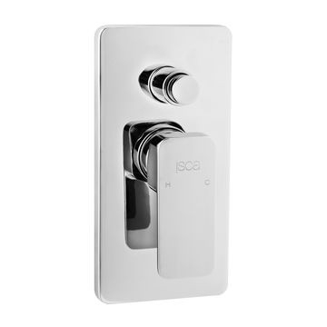 Isca - Bordo Square - Taps - Bath/Shower Diverter Mixers - Chrome