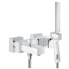 "Grohe - Eurocube Single Lever Bath Mixer ½"" Wall-Mounted Chrome"