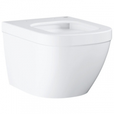 Grohe - Euro Ceramic Wall-Hung Rimless Pan w/ Horizontal Outlet White