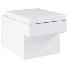 Grohe - Cube Ceramic Wall-Hung Rimless Pan w/ Horizontal Outlet White