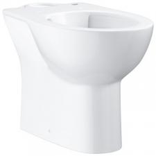 Grohe - Bau Ceramic Floorstanding Close-Coupled Pan w/ Horizontal Outlet White, Rimless