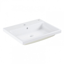 Grohe - Cube Ceramic Built-In Countertop Basin w/ Overflow 605x490mm White