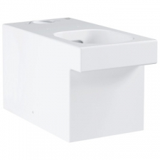 Grohe - Cube Ceramic Close-Coupled Rimless Toilet w/ Universal Trap White