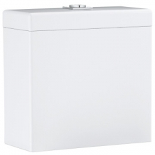 Grohe - Cube Ceramic Top Flush Close-Coupled Cistern w/ Bottom Inlet White