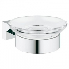 Grohe - Essentials Cube Soap Dish with Holder Chrome